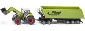 siku 1949 Claas Axion 850 mit Fliegl Muldenkipper | Traktormodell 1:50