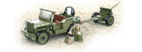 Sluban M38-B0853 WWII All. Jeep mit Feldhaubitze   Militär Baukasten kaufen