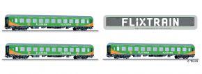 TILLIG 70045 3-tlg. Reisezugwagenset Flixtrain Bauart Halberstadt | DC | Spur H0 kaufen
