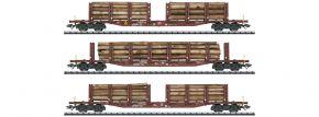 TRIX 24146 Rungenwagen-Set Holztransport DB AG | DC | Spur H0 kaufen