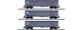 TRIX 24367 Hochbordwagen-Set Ealnos Holzhackschnitzel NS Cargo | Spur H0 kaufen