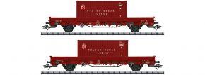 TRIX 24555 Niederbordwagen-Set PKP | DC | Spur H0 kaufen