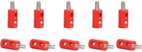 Viessmann 6871 Querlochstecker rot | 2,5 mm - alte Generation | 10 Stück kaufen