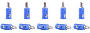 Viessmann 6874 Querlochstecker blau | 2,5 mm - alte Generation | 10 Stück kaufen