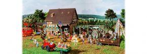 VOLLMER 43009 Herbstfest mit Kürbisstand Beleuchtung und Zubehör Bausatz 1:87 kaufen
