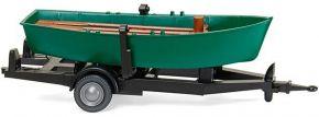 WIKING 009401 Ruderboot auf Anhänger | Modellauto Zubehör 1:87 kaufen