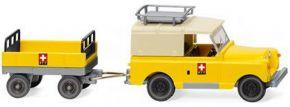 WIKING 010005 Land Rover mit Anhänger PTT | Modellauto 1:87 kaufen