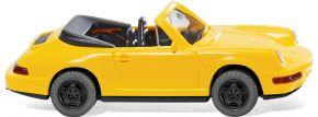 WIKING 016504 Porsche Carrera Cabrio - gelb Modellauto 1:87 kaufen