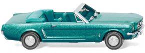 WIKING 020547 Ford Mustang Cabriolet - türkisgrün metallic   BJ 64   Modellauto 1:87 kaufen