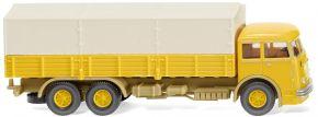 WIKING 047904 Pritschen-Lkw Büssing 12.000, senfgelb | LKW-Modell 1:87 kaufen