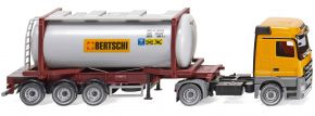WIKING 053602 MB Actros Tankcontainersattelzug Swap   Bertschi   LKW-Modell 1:87 kaufen