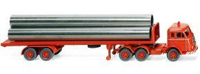 WIKING 055404 Flachpritschensattelzug Henschel - leuchtrot   LKW-Modell 1:87 kaufen