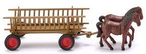 WIKING 089302 Leiterwagen mit Pferdegespann | Landwirtschaftsmodell 1:87 kaufen