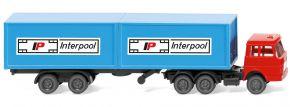 WIKING 095002 Containersattelzug (Henschel) Interpool   LKW-Modell 1:160 kaufen