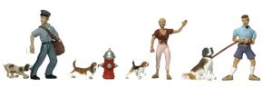 WOODLAND SCENICS WA1827 Hunde und Halter | 8-tlg. Set | Figuren Spur H0 kaufen