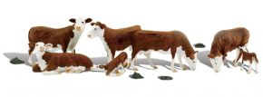 WOODLAND SCENICS WA1843 Hereford-Kühe | 11-tlg. Set | Figuren Spur H0 kaufen