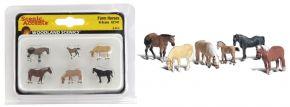 WOODLAND SCENICS WA2141 Pferde auf dem Bauerhof | 6-tlg. Set | Figuren Spur N kaufen