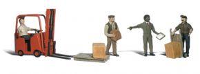 WOODLAND SCENICS WA2192 Arbeiter mit Gabelstapler | 9-tlg. Set | Figuren Spur N kaufen