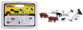 WOODLAND SCENICS WA2202 Tiere auf dem Bauernhof | 10-tlg. Set | Figuren Spur N kaufen