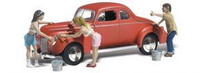 WOODLAND SCENICS WAS5339 Auto wird gewaschen | 6-tlg. Set | Modellauto 1:160 kaufen