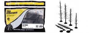 WOODLAND SCENICS WTR1125 Baumrohlinge Nadelbäume biegbar | 44 Stück | Anlagenbau kaufen