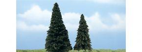 WOODLAND SCENICS WTR1626 Immergrüner Nadelbaum   2 Stück   Höhe 13,3 cm u. 10,1 cm   Spur H0, TT, N kaufen