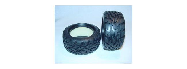 TAMIYA 53854 Reifen | V-Tread Block Profil | 2 Stück | für TAMIYA LEVANT