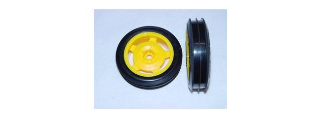 TAMIYA 9400231 OffRoad 2WD Reifen vorne auf Felge (2)