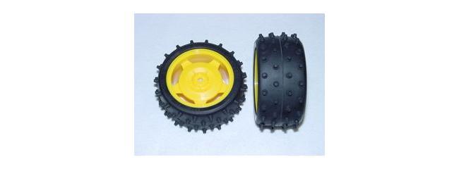 TAMIYA 9400239 OffRoad Reifen auf Felge hinten (2) Fighter G