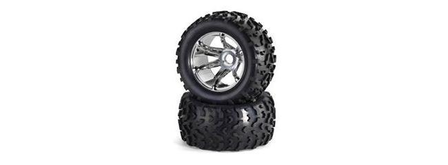 CARSON 500205427 Reifen auf Chromfelgen 1/8 (2) CY-Chassis Carson