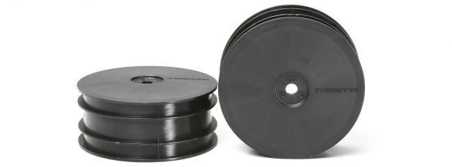 TAMIYA 51304 DB-01, TRF501X Dish-Felgen Schwarz vorne 60/25 (2)