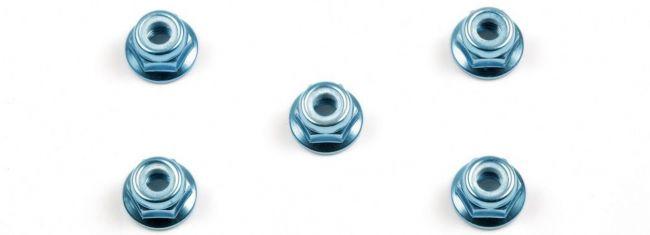 TAMIYA 53159 Radmuttern M4 mit Kragen blau | 5 Stück