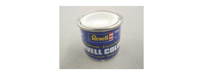 Revell 32301 Streichfarbe weiß seidenmatt # 301 Farbdose 14 ml