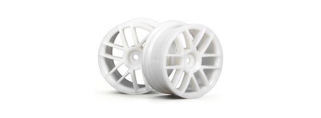 HPI H3795 6-Speichen Felge (2) 26mm weiß