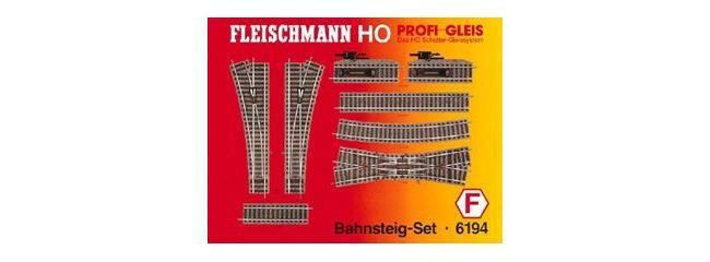 FLEISCHMANN 6194 Gleis-Set F |  Bahnsteig-Set  | Profi-Gleis H0