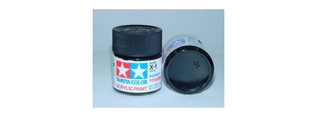 TAMIYA X-1 schwarz glänzend Streichfarbe #81001
