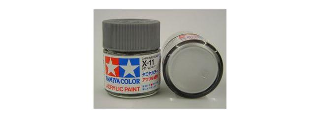 TAMIYA X-11 chrom-silber Streichfarbe #81011