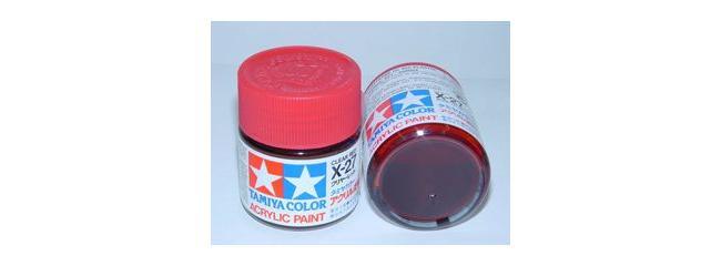 TAMIYA X-27 klar rot Streichfarbe | 23 ml | #81027
