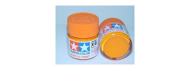 TAMIYA X-6 orange glänzend Streichfarbe #81006