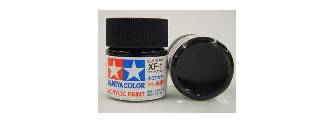 TAMIYA XF-1 schwarz matt Streichfarbe | #81301 | 23 ml