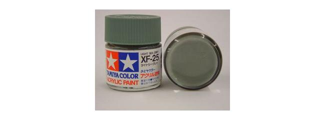 TAMIYA XF-25 see grau hell Streichfarbe #81325