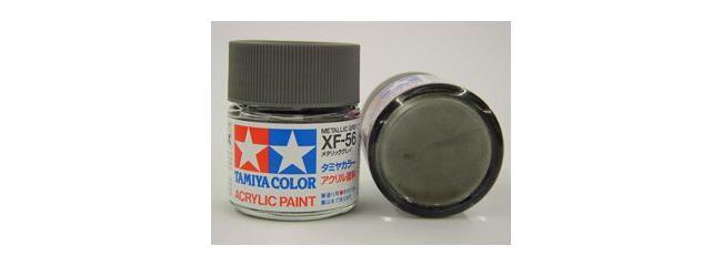 TAMIYA XF-56 metallic grau Streichfarbe | 23 ml |  #81356