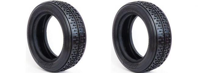 AKA 13208S Vordere Reifen   2 Stück   für 2WD Buggy Rebar