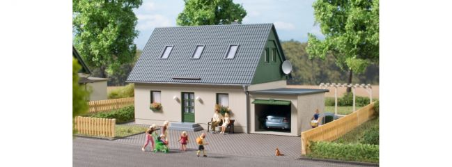 Auhagen 11454 Einfamilienhaus mit Garage | Bausatz Spur H0