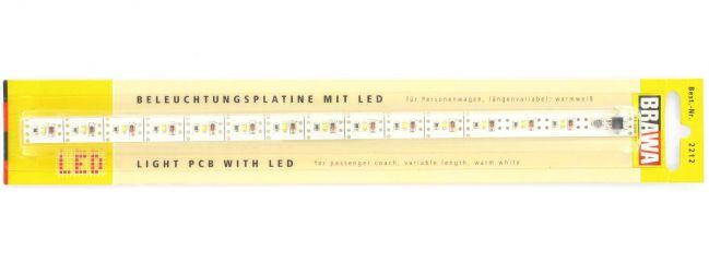 BRAWA 2212 Beleuchtungsplatine mit LED | für Personenwagen | längenvariabel | warmweiß | Spur H0