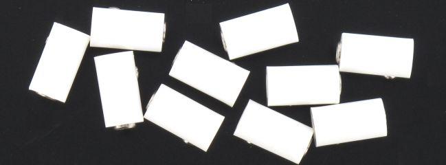 BRAWA 3049  Runde Muffen | 2,5 mm | Weiß | 10 Stück