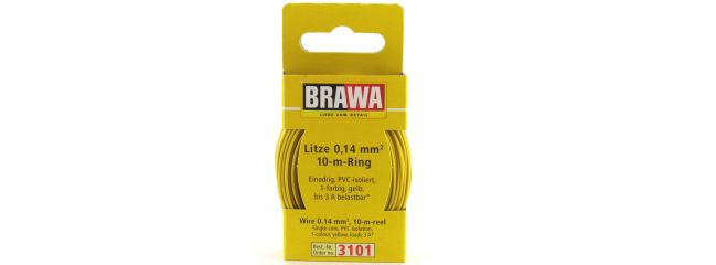 BRAWA 3101 Litze | 0,14 mm² | 10 m Ring | Gelb