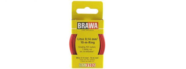BRAWA 3102 Litze | 0,14 mm² | 10 m Ring | Rot