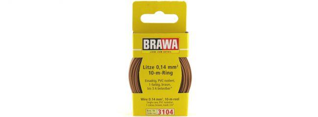 BRAWA 3104 Litze | 0,14 mm² | 10 m Ring | Braun