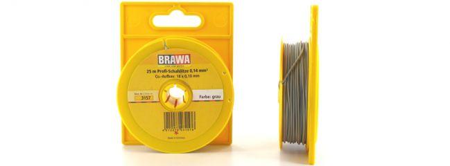 BRAWA 3157 Schaltlitze | 0,14 mm² | 25 m Abrollspule | Grau